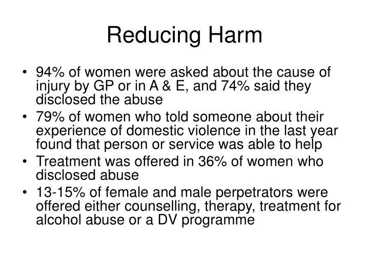 Reducing Harm