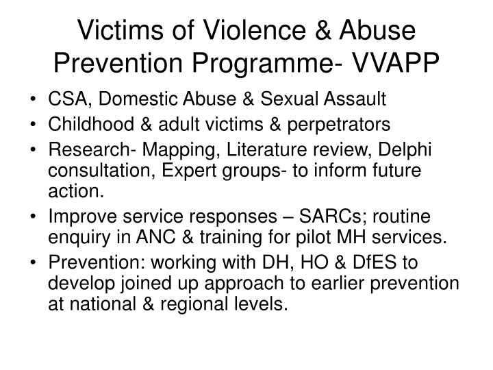 Victims of Violence & Abuse Prevention Programme- VVAPP