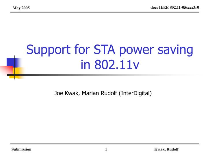 Support for sta power saving in 802 11v