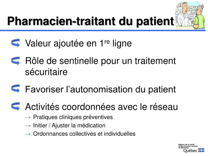Pharmacien-traitant
