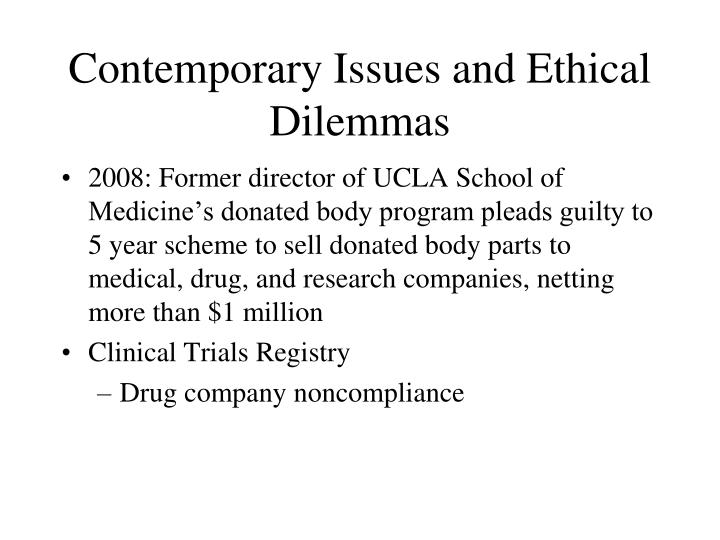 Contemporary Issues and Ethical Dilemmas