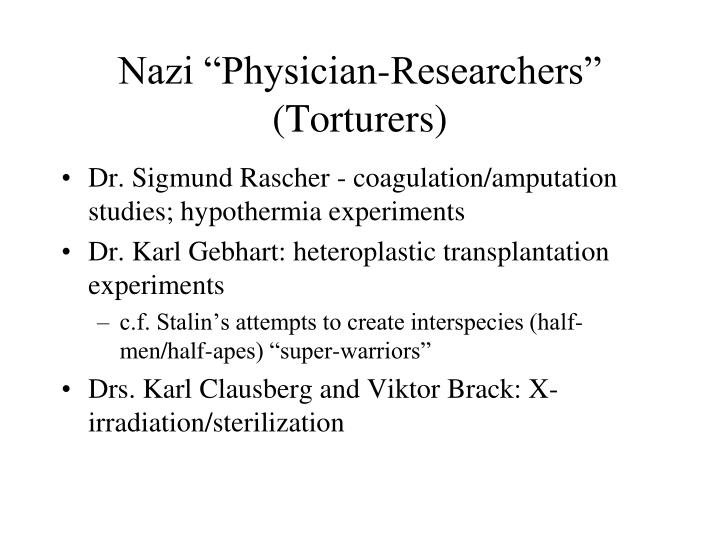 "Nazi ""Physician-Researchers"""