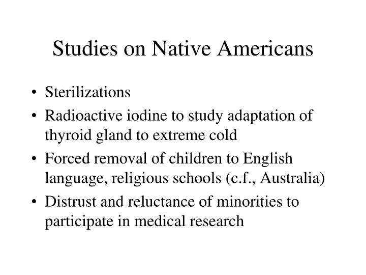 Studies on Native Americans