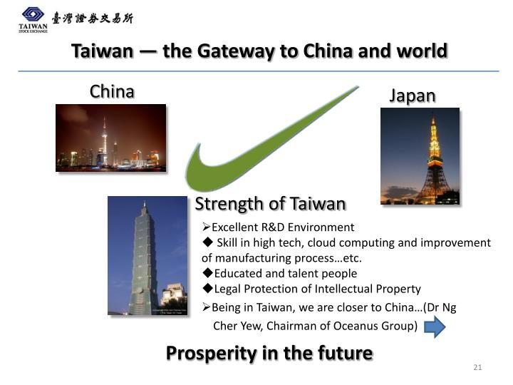 Taiwan — the Gateway to China