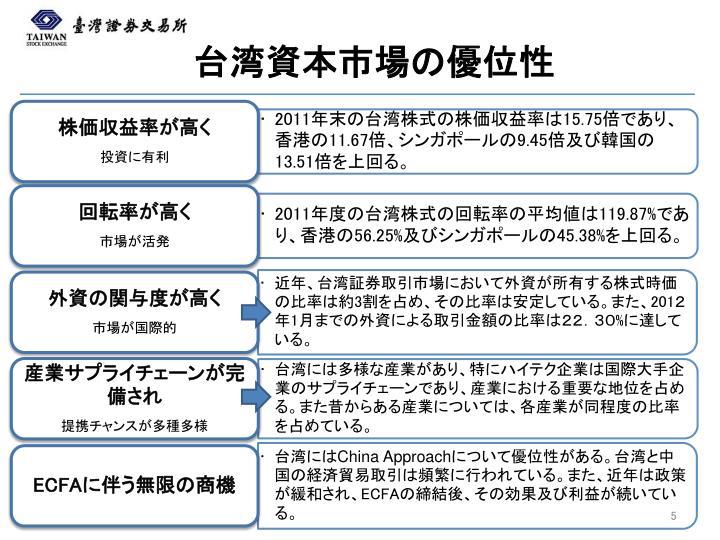 台湾資本市場の優位性