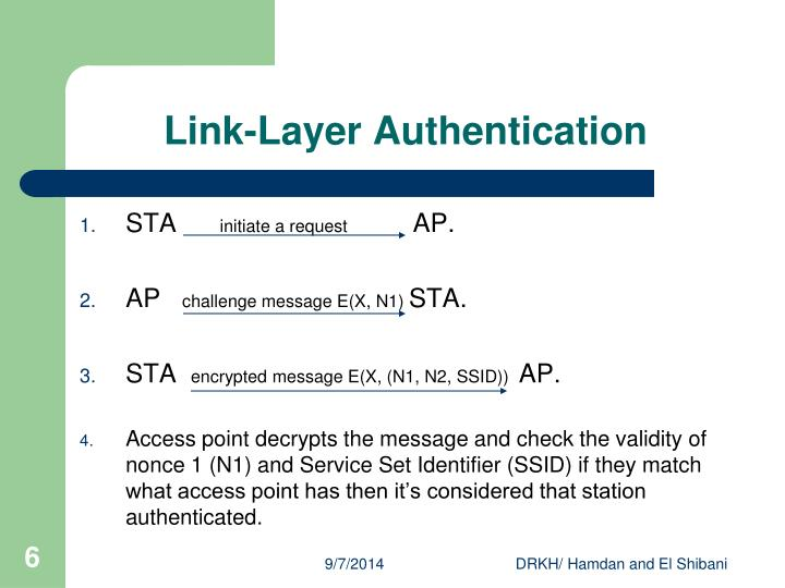 Link-Layer Authentication