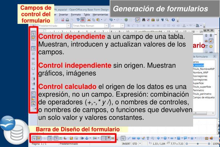 Generación de formularios