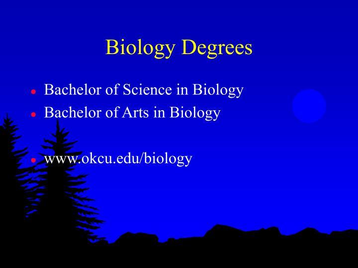 Biology Degrees