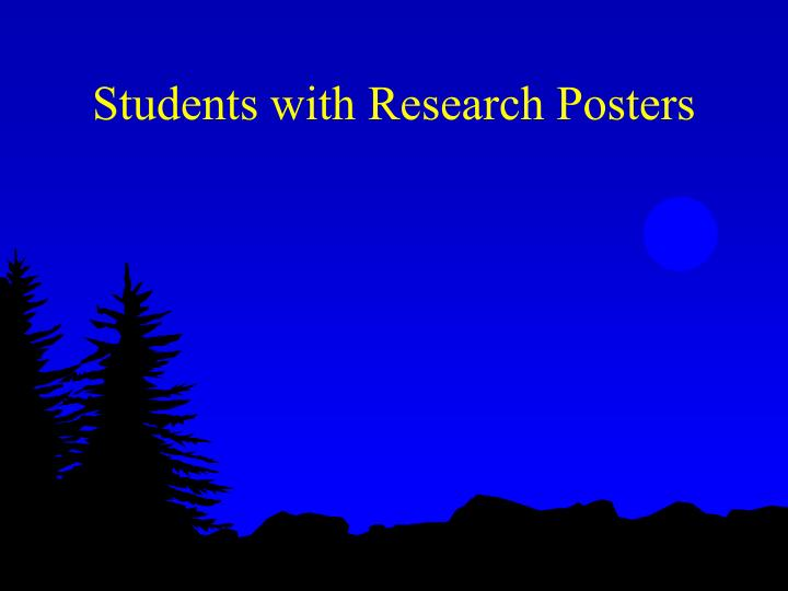 Students with Research Posters