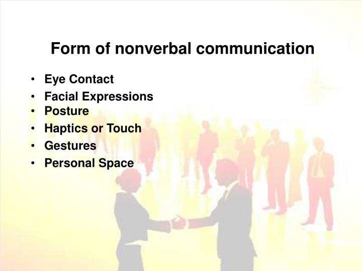 Form of nonverbal communication