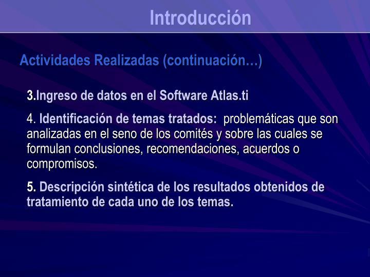 Ingreso de datos en el Software Atlas.ti
