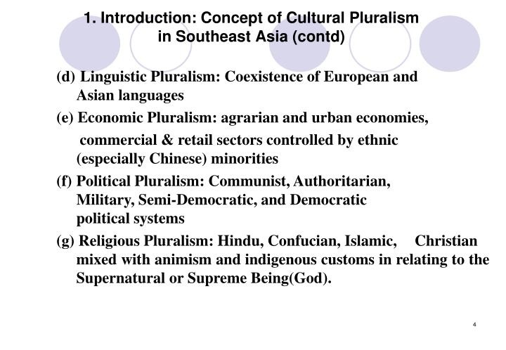 1. Introduction: Concept of Cultural Pluralism