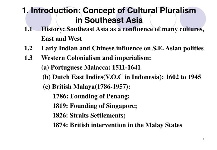 1 introduction concept of cultural pluralism in southeast asia