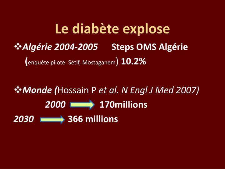 Le diabète explose