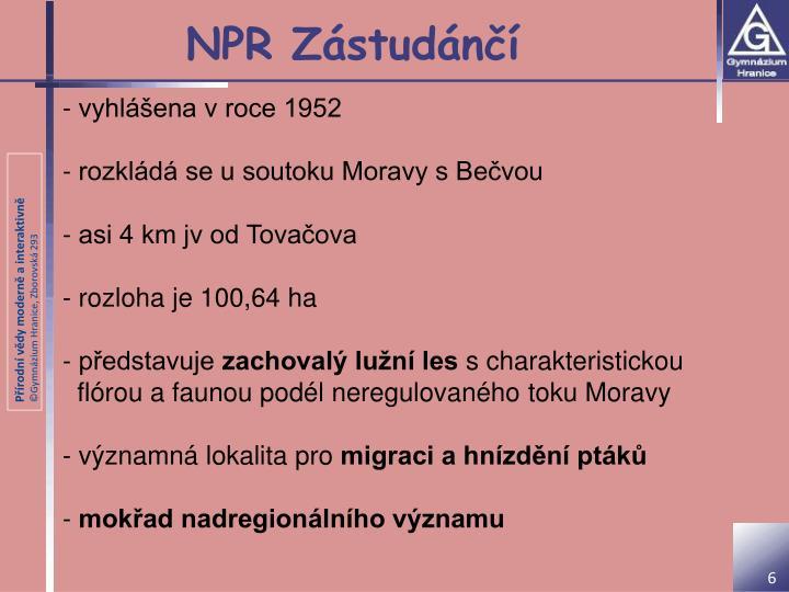NPR Zástudánčí