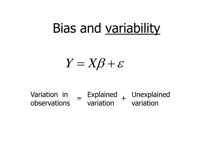 Variation  in observations