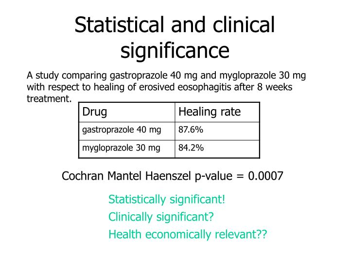Statistical and clinical significance