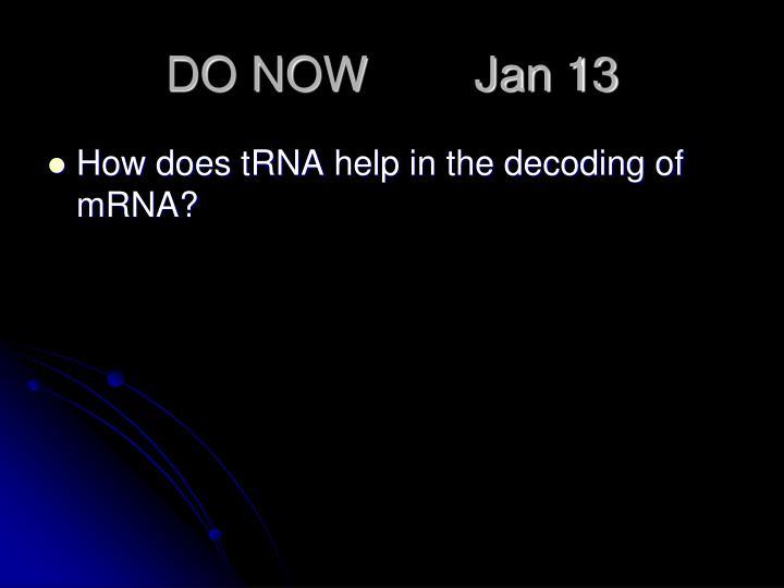 DO NOW        Jan 13