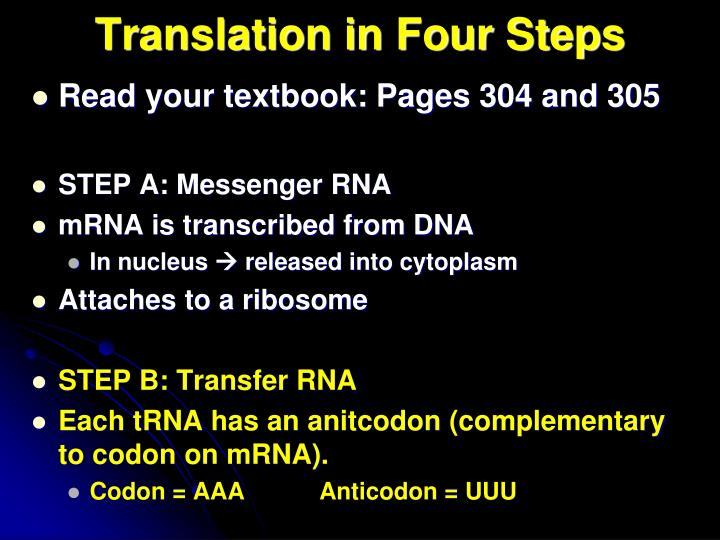 Translation in Four Steps