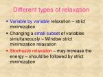 different types of relaxation