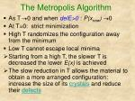 the metropolis algorithm