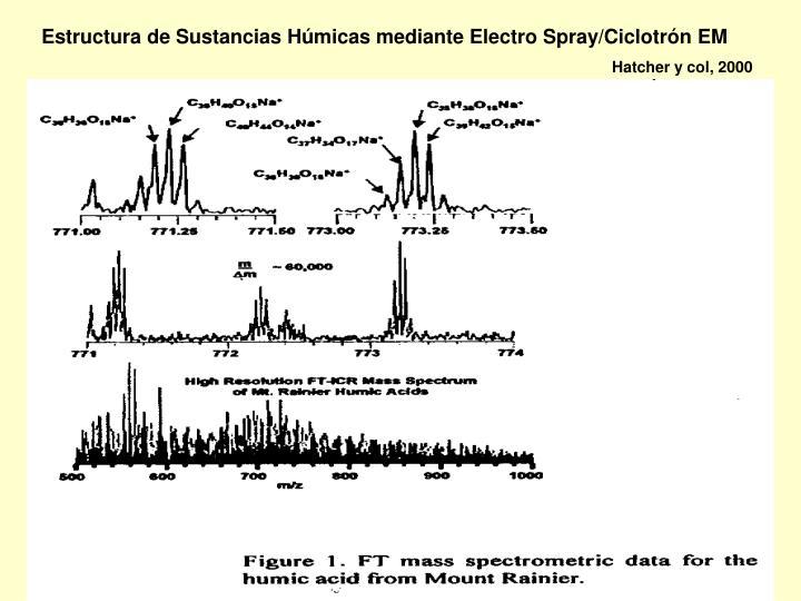 Estructura de Sustancias Húmicas mediante Electro Spray/Ciclotrón EM