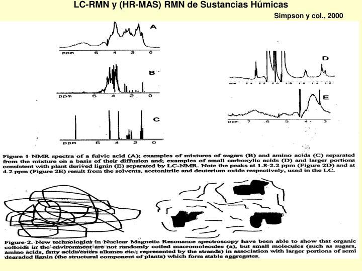 LC-RMN y (HR-MAS) RMN de Sustancias Húmicas