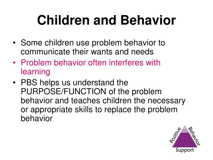 Children and Behavior