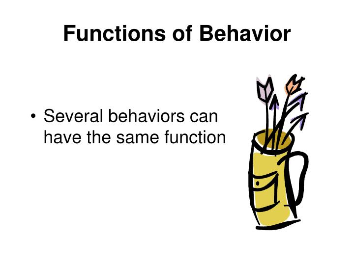 Functions of Behavior