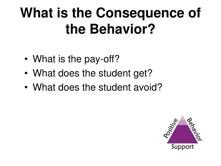What is the Consequence of the Behavior?