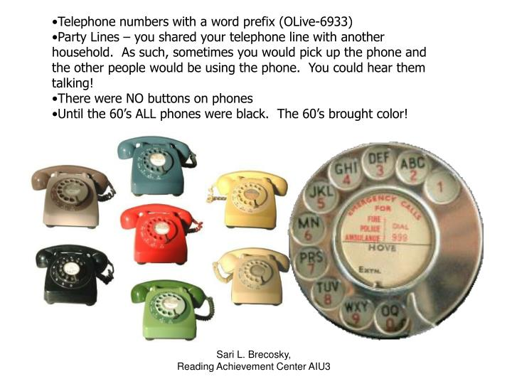 Telephone numbers with a word prefix (OLive-6933)