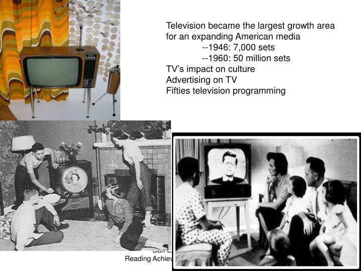 Television became the largest growth area for an expanding American media