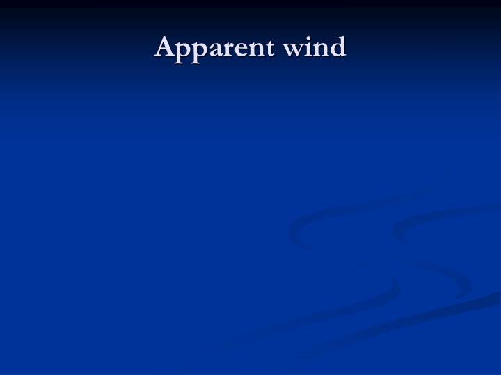 Apparent wind