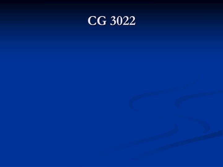 CG 3022