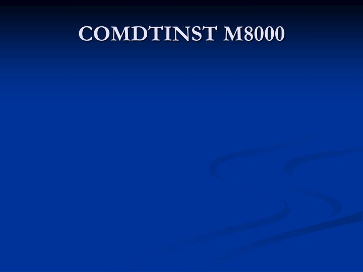 COMDTINST M8000