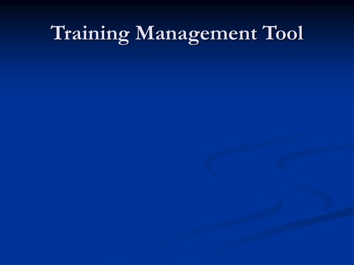 Training Management Tool