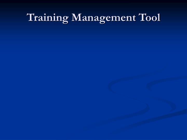 Training Management Tool