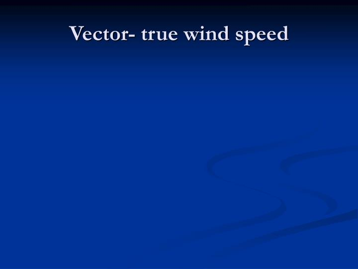 Vector- true wind speed