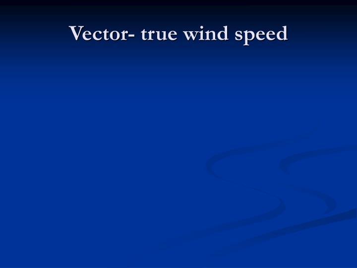 Vector- true wind speed