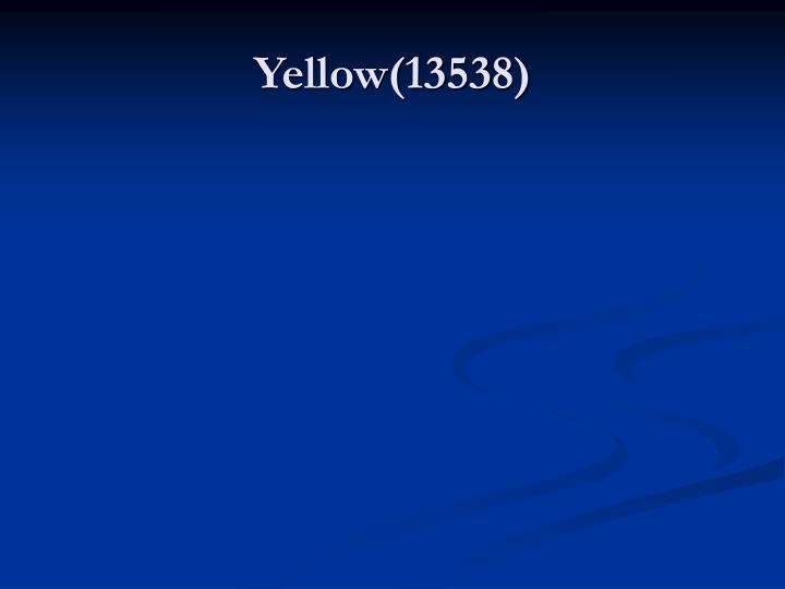 Yellow(13538)