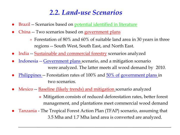 2.2. Land-use Scenarios