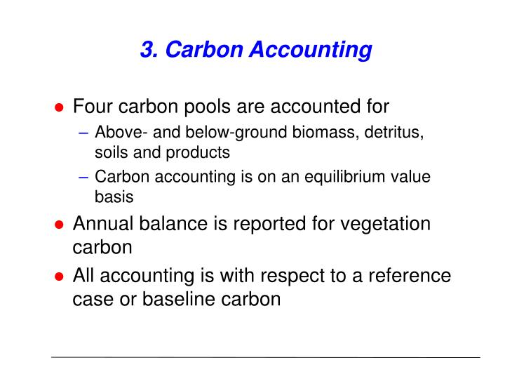3. Carbon Accounting