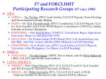 f7 and forclimit participating research groups f7 since 1990