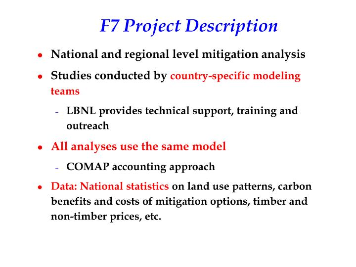 F7 project description