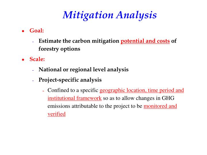 Mitigation Analysis