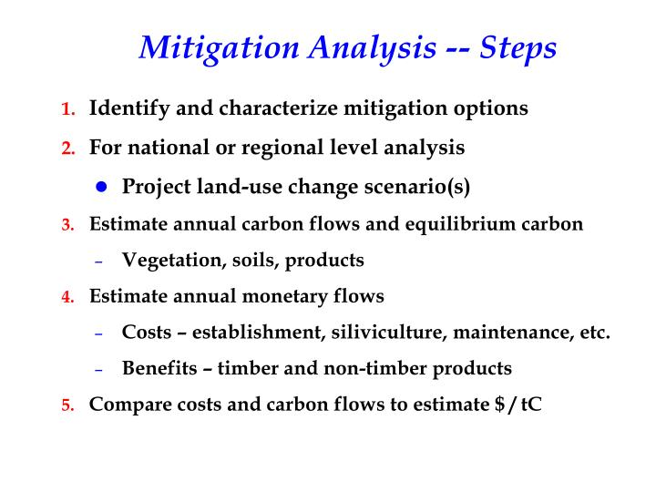 Mitigation Analysis -- Steps