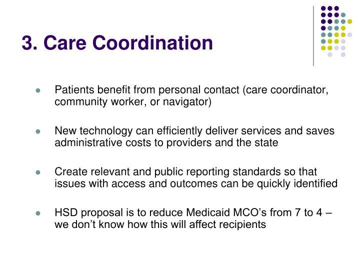 3. Care Coordination