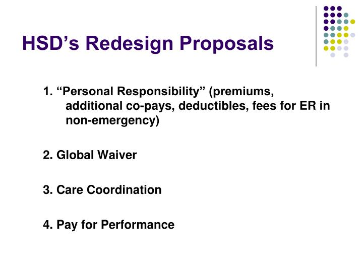 HSD's Redesign Proposals