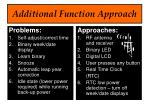 additional function approach