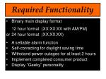 required functionality